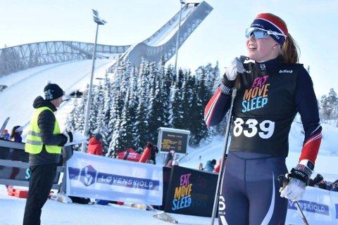 Stor opptur: Årets skisesong har vært spesiell for Anniken Sand. På grunn av et virus, har hun i perioder fått treningsnekt av legen. På lørdagens sprint, ble det en sterk 12. plass på 14-åringen.