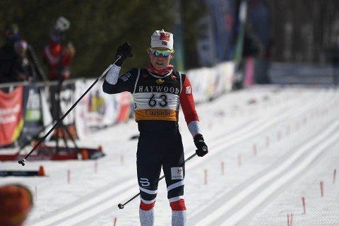 Klar for «lokaloppgjør»: Albert Sunde Øhlschlägel leverte sterkt på 10 kilometer i skøyting. Nå skiller det kun ett poeng mellom de to liungene i norgescupsammendraget, der Kirken er nummer fire og Sunde Øhlschlägel nummer fem. Foto: Doug Stephen