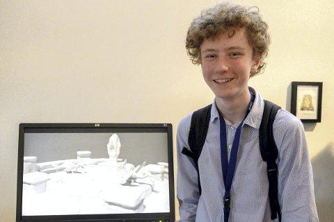 Glad mottaker: Juryen sier Danick Theodor Bakker er i internasjonal klasse innen sin kunstform, som er 3D datakunst.