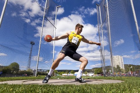 Sterk debut: Ola Stunes Isene leverte en sterk konkurranse i sin Diamond League-debut. 24-åringen fra Egge ble nummer åtte, med et lengste kast på 62.63 meter.