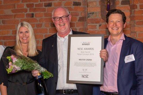 Gründer og eier av Mester Grønn, Erling Ølstad tok imot prisen.