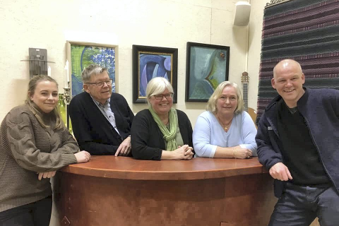 Senterpartiets toppkandidater: F.v. Kaja Elisabeth Flesjø Kværner, Jan Oddvar Stolp, Tone Birgitte Bergflødt, Laila Tryde og Espen Lahnstein. Foto: Privat