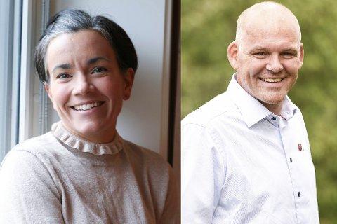 ORDFØRER OG VARAORDFØRER: Gunn Cecilie Ringdal (H) fortsetter som ordfører den neste valgperioden. Espen Lahnstein (Sp) blir ny varaordfører.