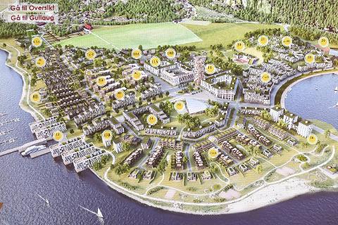Planene på Gullaughalvøya.