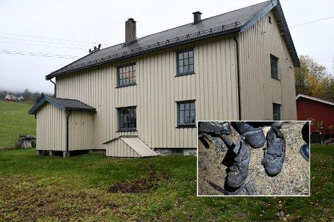 Sko-mysteriet i Bollen: Hvorfor var disse skoene gravd ned i gulvet på loftet i Bollen på Sjåstad, og hvor gamle kan de være? Både dame, herre og barnesko ble funnet da Rannveig og søsteren gravde i gulvet.