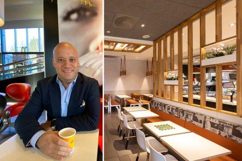 STOR INVESTERING: Eduardo Jacobsen investerer åtte millioner kroner i oppgraderingen av McDonald's på Liertoppen.