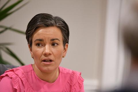 STRAMMER TIL: Ordfører Gunn Cecilie Ringdal bekrefter at Lier innfører smittetiltak i tråd med regjeringens anbefalinger.