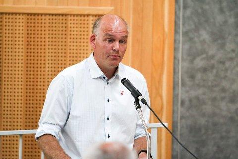 Vingleren: Espen Lahnstein (Sp) tok ordet under debatten om Øvre Lianvei for å si at det er han som er vinglete i saken.