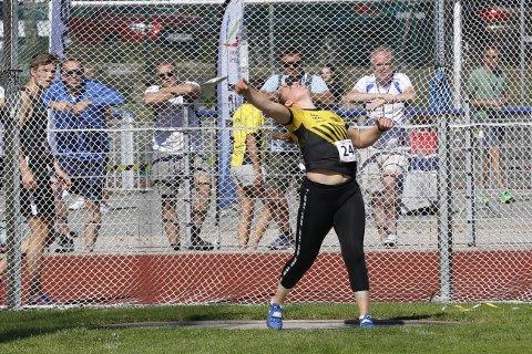 Vant junior-NM: Berit Stunes Isene vant diskos i U-23 klassen på junior NM. Neste sesong er hun senior.