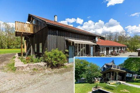 Mange likheter: Renskaug vertsgård og Madame Tveten (innfeldt) har mange likhetstrekk. Begge ligger ute for salg.