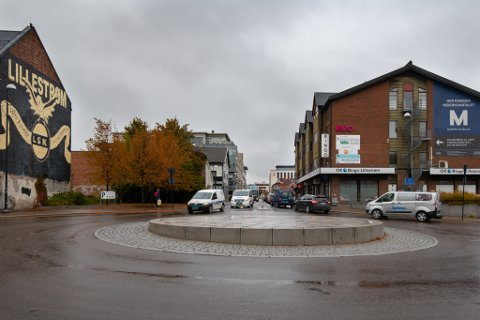 RUNDKJØRING: Her vil kommunen sette opp en stor sykkel, for å markere at Lillestrøm er kåret til Norges beste sykkelby flere ganger.