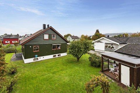 Til salgs: Denne eneboligen i Eidsvoldgata på Vigernes er ute på boligmarkedet for 5,8 millioner kroner.