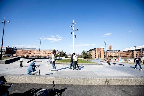 FLERE VOKSNE: Politiet ønsker at flere foreldre er til stede i skateparken. Det mener de har en viktig forebyggende effekt.