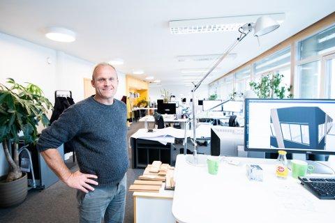 I VEKST: Vindveggen Arkitekter har hatt en jevn vekst de siste årene. – Vi opplever i stor grad at kundene kommer til oss, sier daglig leder Martin Glomnes.