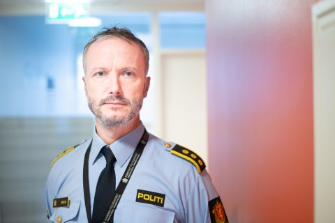 Står på sitt: Seksjonsleder nærpoliti i Skedsmo politistasjonsdistrikt, Trond Arve Øren, ønsker ikke den såkalte kebabringen fjernet.