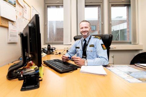 Fornøyd: Seksjonsleder for nærpolitiseksjonen ved Skedsmo politistasjonsdistrikt, Trond Øren.