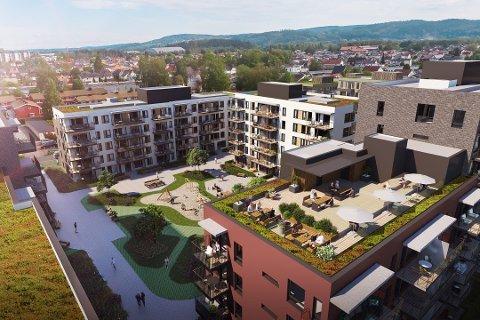 Omfattende: OBOS skal bygge 950 leiligheter like ved Norges Varemesse i Lillestrøm.