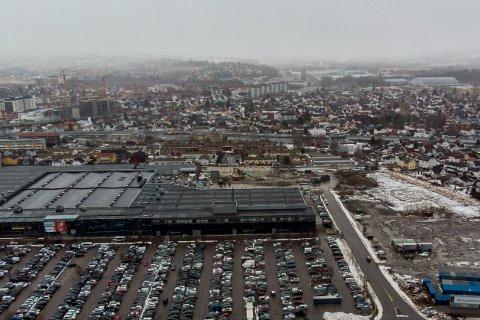 Byggeområdet: Toma ved Norges Varemesse, som OBOS skal bygge 950 leiligheter på, er mindre forurenset enn fryktet.