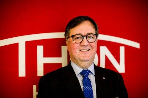 Venter på markedet: Konserndirektør Morten Thorvaldsen i Thon Hotels håper å kunne åpne Thon Hotel Arena i august.