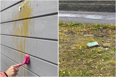 HÆRVERK: Gjentatte ganger har nabolagene opplevd at diverse gjenstander er tilgriset av egg.