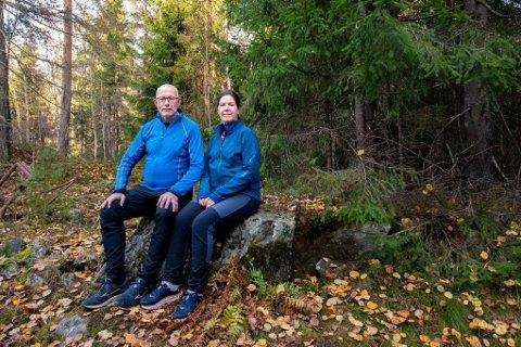 TURGLADE: Bård og Irene Gjestvang flyttet til Lørenskog i fjor, og har allerede utforsket mange av turmulighetene som finnes i nærområdet.