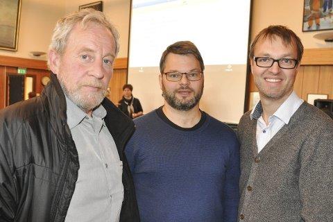 Utvalgslederne: Harald Hansen, Svenn-Erik Tønnessen Busch og Roar Syltebø skal styre hvert sitt utvalg.Foto: Åshild Marita Håvelsrud