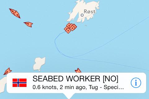 """Fredag morgen var """"Seabed Worker""""i gang med arbeidet."""