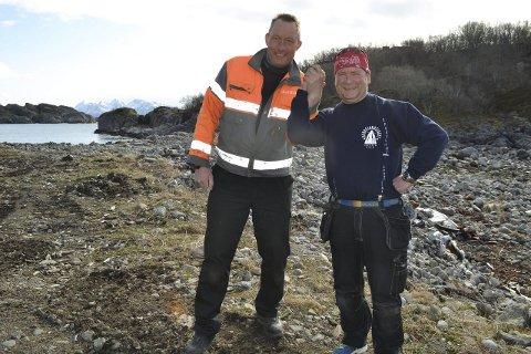 Startskudd for Kreta: Gunnar Svenning og  Erik Berg Blomstrand er grundere som satser friskt i hjemkommunen. Nå er det sterkt fokus på det nye boligområdet Kreta, i sjøkanten i Kabelvåg.