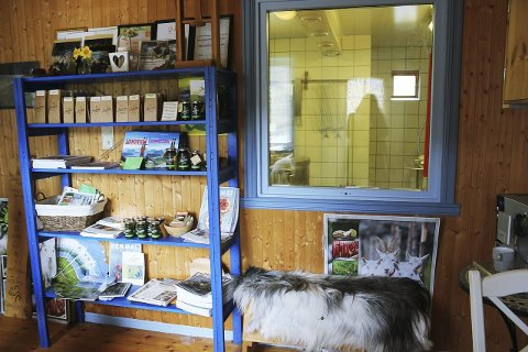 Blir nytt: Dagens gårdsbutikk vil bli et større gårdskjøkken når ombyggingen er over.