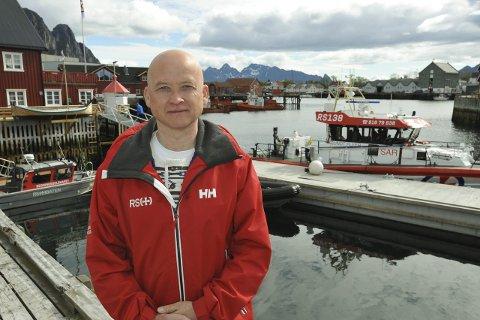 Travelt halvår: Skipper Rune Pedersen på RS «Sundt Flyer» sier oppdragene har stått i kø denne våren, og under Lofotfisket var det rekordmange oppdrag. Foto: Knut Johansen