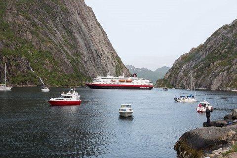 Hurtigruten: Passasjerene på Nordlys fikk en gledelig smakebit.