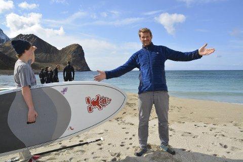 Glad: Unstad Arctic Surf trenger bedre nettilgang, noe Tommy Olsen nå gleder seg over at de får. Bildet er tatt i forbindelse med en annen sak. Illustrasjonsfoto
