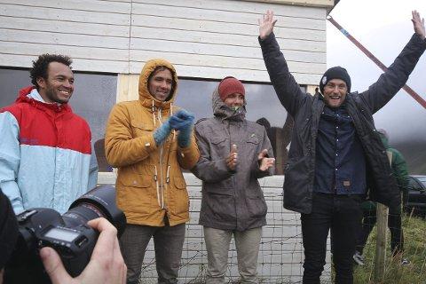 Herrefinalistene: Fra venstre. 4. Olivier Soliz, 3. Luca Petersen-Guichard, 2. Joackim Petersen-Guichard og 1. Timothy Latte. Foto: Ole Kristian Larsen