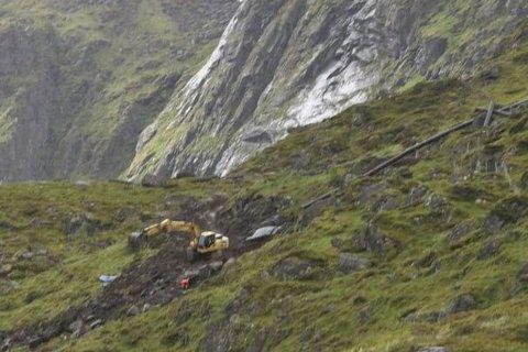 HØYDEBASSENG: Arbeidet med høydebassenget er foreløpig stoppet. Foto: Kai Nikolaisen