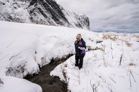 Bekkasin i bekken: I dette området på Eggum fant vi den overvintrede enkeltbekkasinen. Foto: Jon Olav Larsen