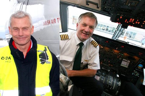 Jesper Rungholm i DAT og Ola Giæver i Fly Viking.