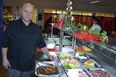 Kokk: Baard Nordby er kokk og avdelingsleder ved Lofoten Industri.