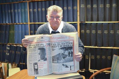 Husker: John-Arne Storhaug (fyller 67 den 20.12). I 47,5 år har han vært journalist. Den begivenheten som står mest spikret i minnet, er rasulykken i Kaljorda for 39 år siden. På en sen lørdagskveld måtte han leie to ekstra ferger for å kunne dekke den tragiske ulykken. Foto: Knut Johansen.