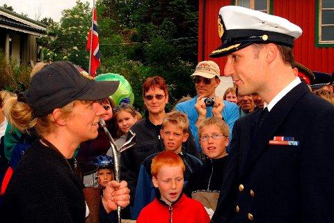 I 2012 deltok kronprins Haakon på 50-årsjubileet til Sjøheimevernet i Kabelvåg. Foto: Bjørnar Larsen.