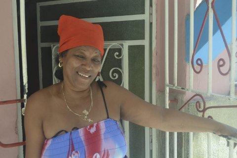 MARIA: Hun stilte opp som modell for «Flickan i Havanna» og tjente ei månedslønn, som er 80 norske kroner for statsansatte.