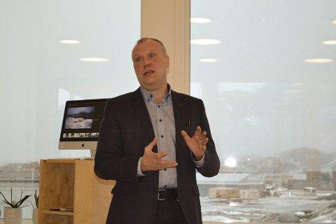 Bom stopp: Arnt M. Winther og resten av Lofotkraft sier stopp til Gimsøy vindkraftverk. – Det er ikke penger og betingelsene er endret i løpet av de siste årene, sier han. Foto: John-Arne Storhaug.