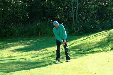 Sølvslag: Barry Adolfsen, her fra en tidligere turnering i Skjomen, tok lagsølv i helgas NNM i golf.Arkivfoto