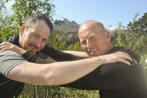 KOM IGJEN: Paul Maurdal Klausen (tv) og Magne Johansen er klar for den mest omfattende fjellkonkurranse hittil i Lofoten.