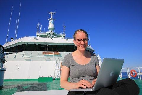 Kjersti Eline Tønnessen Busch fra SALT er på tokt med G.O. Sars utenfor Lofoten og Vesterålen