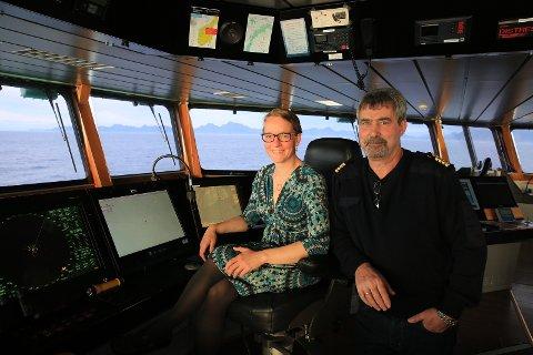 Kjersti møter kaptein John Hugo Johnsen på broen til G.O. Sars