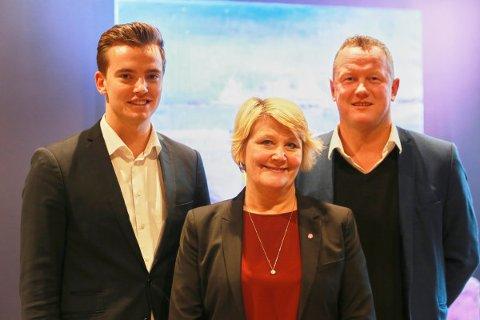 Simon Johnsen, Hild-Marit Olsen og Tom Vidar Karlsen.