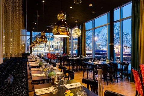 Frokostsalen til Thon Hotel Lofoten i Svolvær.