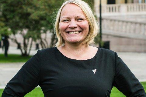 Mona Fagerås fra Vestvågøy, stortingspolitiker og utdanningspolitisk talsperson for SV.