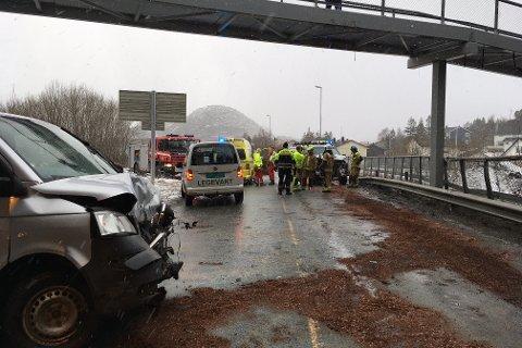To varebiler involvert i ulykken.