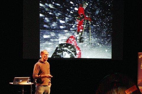 Tilbake: Børge Ousland kommer til LIFF. Her fra foredrag i Lofoten i 2011